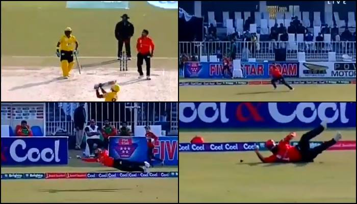 Ahmed Shehzad learns to catch it like Hardik Pandya, takes a one-handed stunner at long on — WATCH