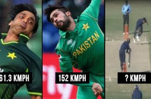 Mohammad Hasnain's bowling speed