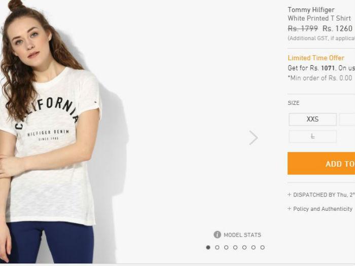 Suhana Khan Tommy_Hilfiger_Tshirt