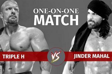 Jinder Mahal vs Triple H WWE match in New Delhi