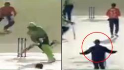 Hilarious decision ever in cricket: Pakistani umpire calls yorker a wide ball – WATCH