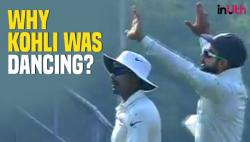 Virat Kohli does 'Bhangra' on-field to celebrate Dickwella's wicket in 2nd Test against Sri Lanka - WATCH