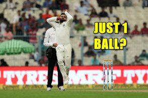Virat Kohli bowling, Virat Kohli bowling Tests, Virat Kohli-Mohammed Shami, Mohammed Shami injury, India vs Sri Lanka 1st Test, Eden Gardens, Kolkata Test, Niroshan Dickwella