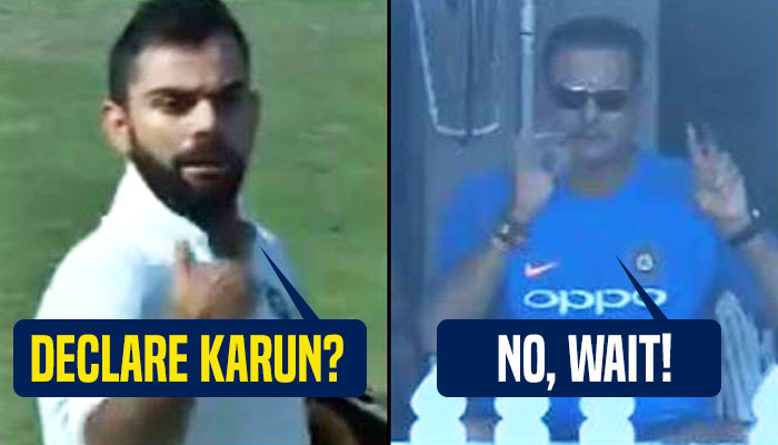 Virat Kohli wanted to declare but Ravi Shastri asked him to score 50th century — WATCH