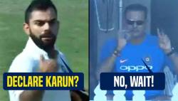 Virat Kohli wanted to declare but Ravi Shastri asked him to score 50th century -- WATCH