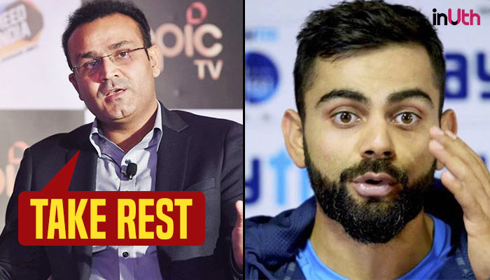 Virender Sehwag suggests Virat Kohli to take rest, give captaincy to Rohit Sharma
