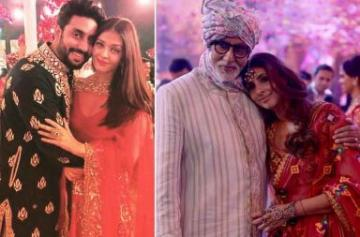 Amitabh, Aishwarya and Abhishek Bachchan attend family wedding