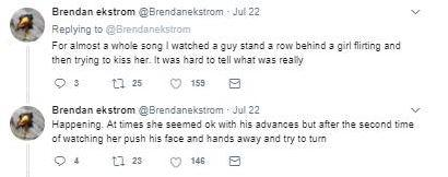 Brendan's tweet about the incident
