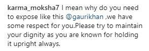 Comment on Gauri Khan's photo