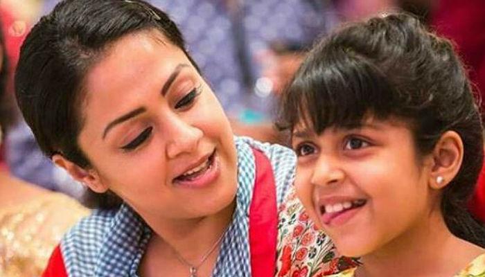 Jyothika and Diya