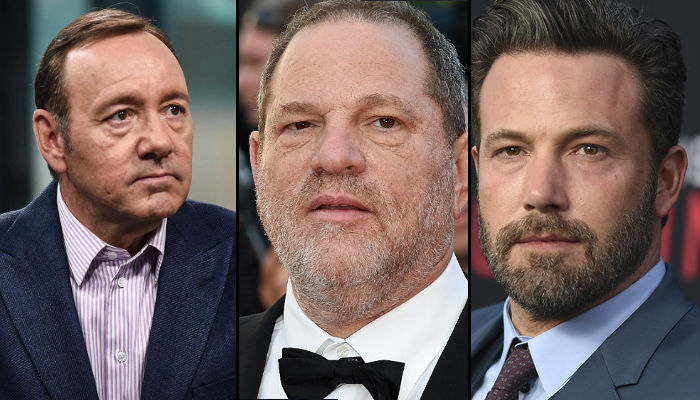 Harvey Weinstein, Ben Affleck, Kevin Spacey, Hollywood sexual harassment | Photo created for InUth.com