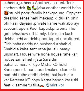 Comment on Mira Rajput's picture