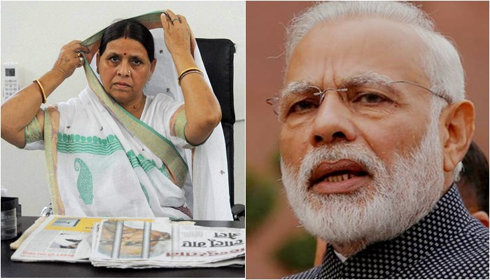 BJP leader's 'chop off hands' remark: Rabri Devi says many in Bihar ready to slit PM Modi's throat