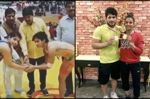 Sakshi Malik, Geeta Phogat become National Wrestling Champions, share winning moment on Twitter