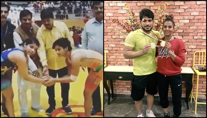 Sakshi Malik, Geeta Phogat become National Wrestling Champions, share winning moment on Twitter – Watch