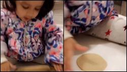 MS Dhoni's daughter Ziva's roti making video goes viral on social media - Watch
