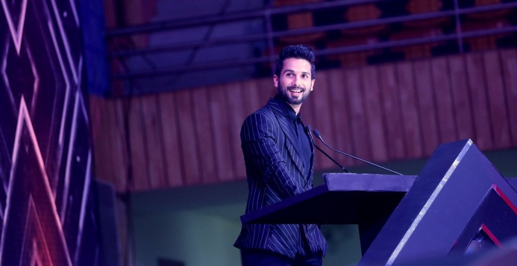 Shahid Kapoor at IFFI, Goa (Courtesy: Twitter/@IFFIGoa)