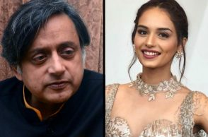 Manushi Chhillar, Shashi Tharoor, Manushi Chhillar tweet | Photo created for InUth.com