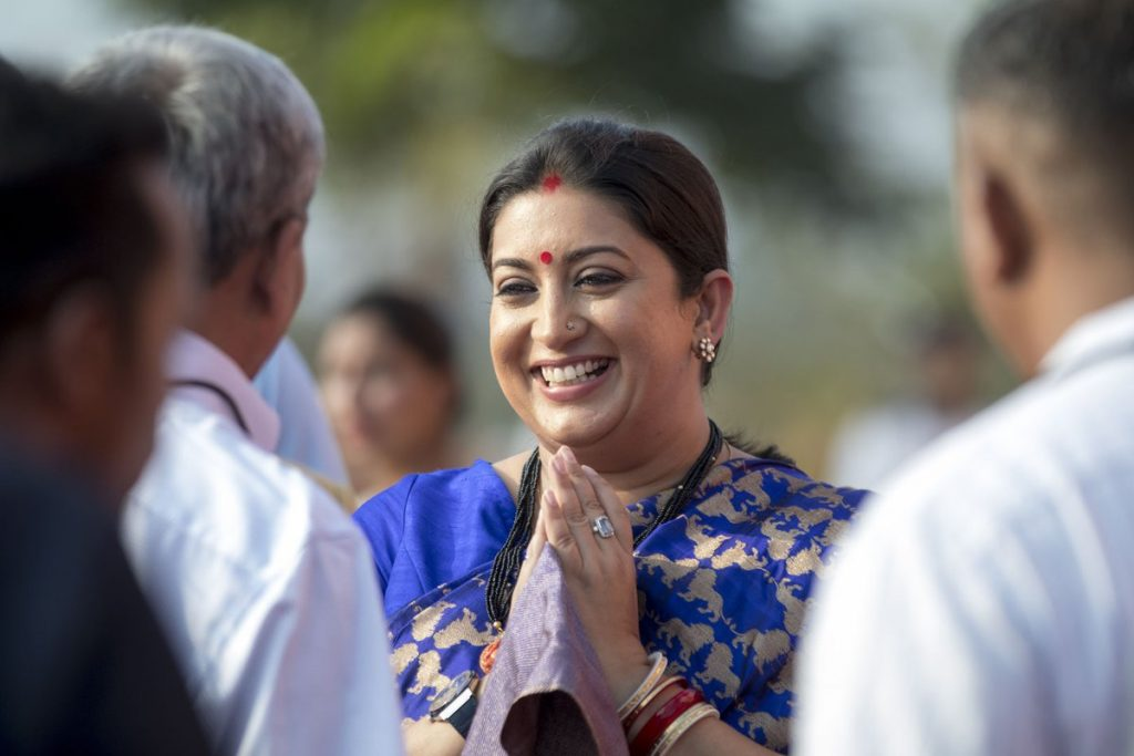 Smriti Irani at IFFI Goa (Courtesy: Twitter/@IFFIGoa)