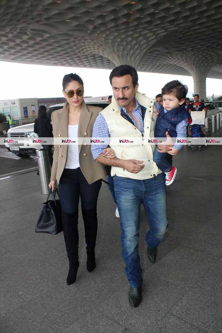 Kareena Kapoor with Saif Ali Khan and Taimur