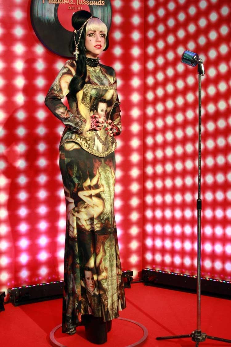 Lady Gaga's wax figure at Madame Tussauds Delhi