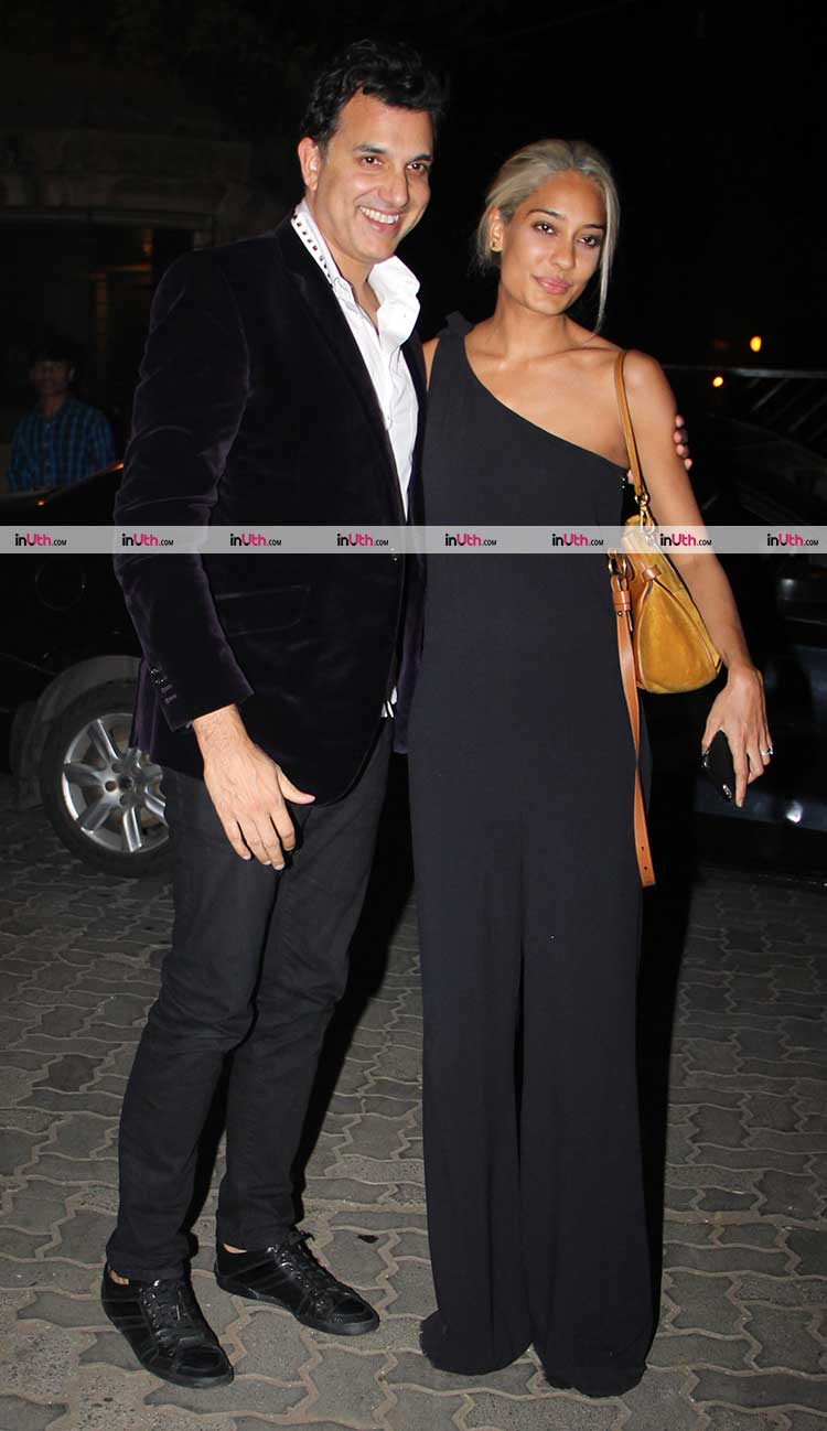 Lisa Haydon with Dino Lalvani at Karan Johar's Christmas party