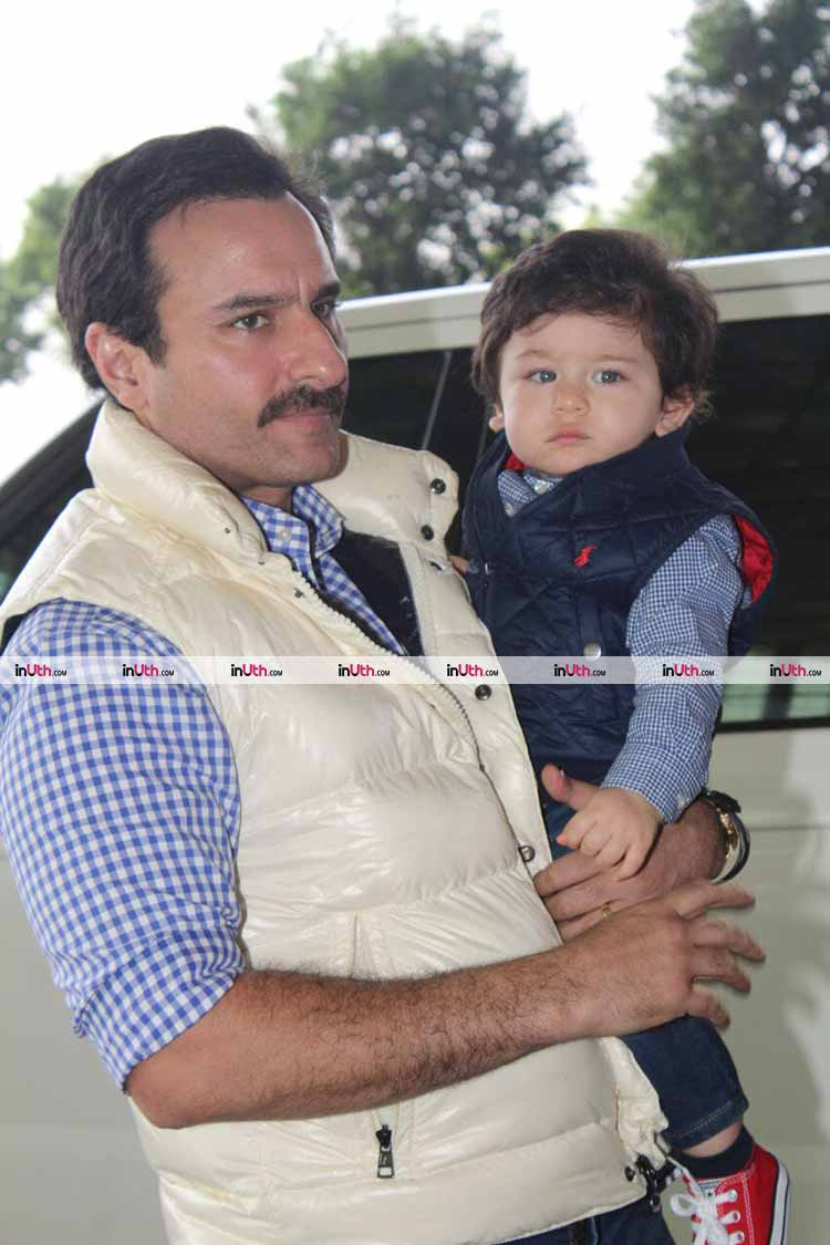 To-be-birthday boy Taimur with father Saif Ali Khan