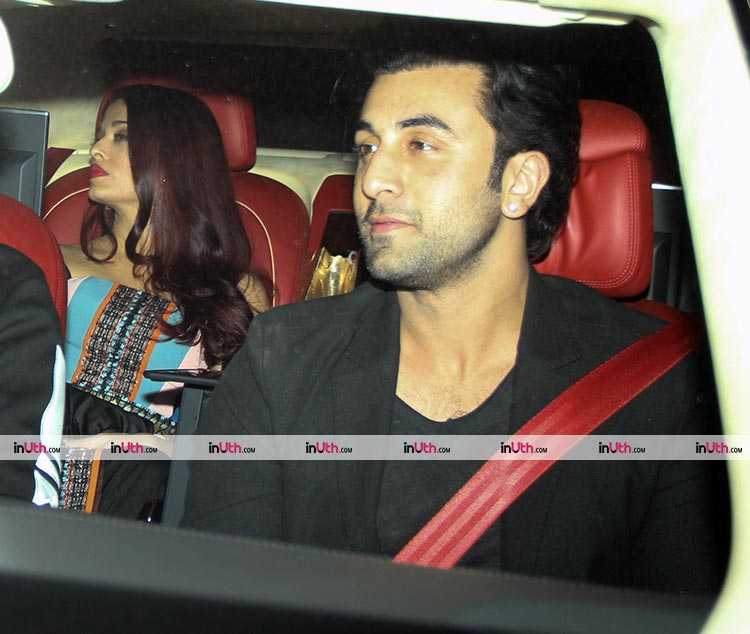 Aishwarya Rai and Ranbir Kapoor arriving at Karan Johar's Christmas party