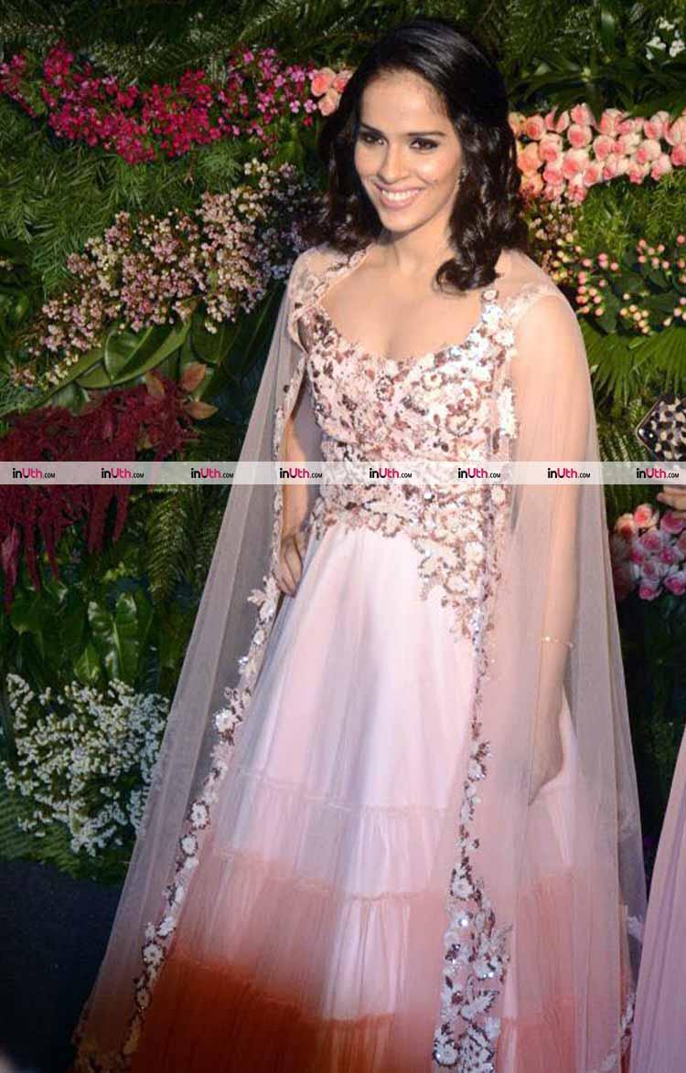 Saina Nehwal at Virat Kohli-Anushka Sharma's Mumbai wedding reception party