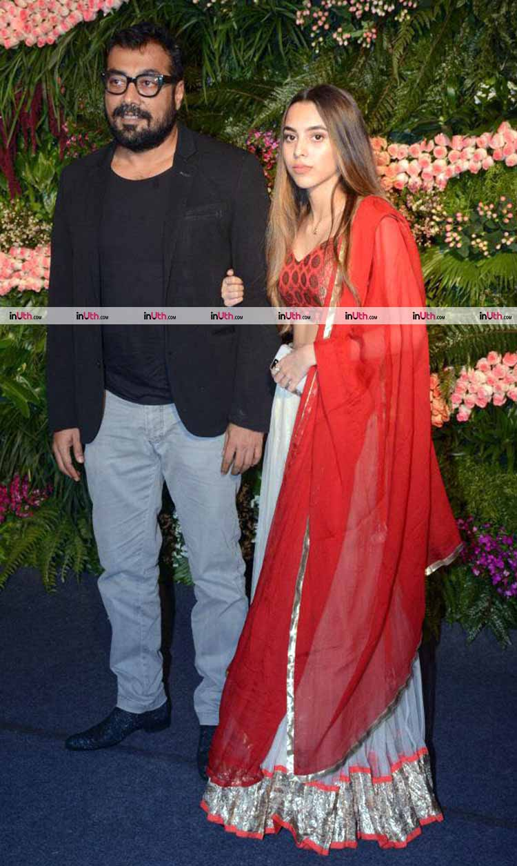 Anurag Kashyap with his girlfriend at Virat Kohli-Anushka Sharma's wedding reception