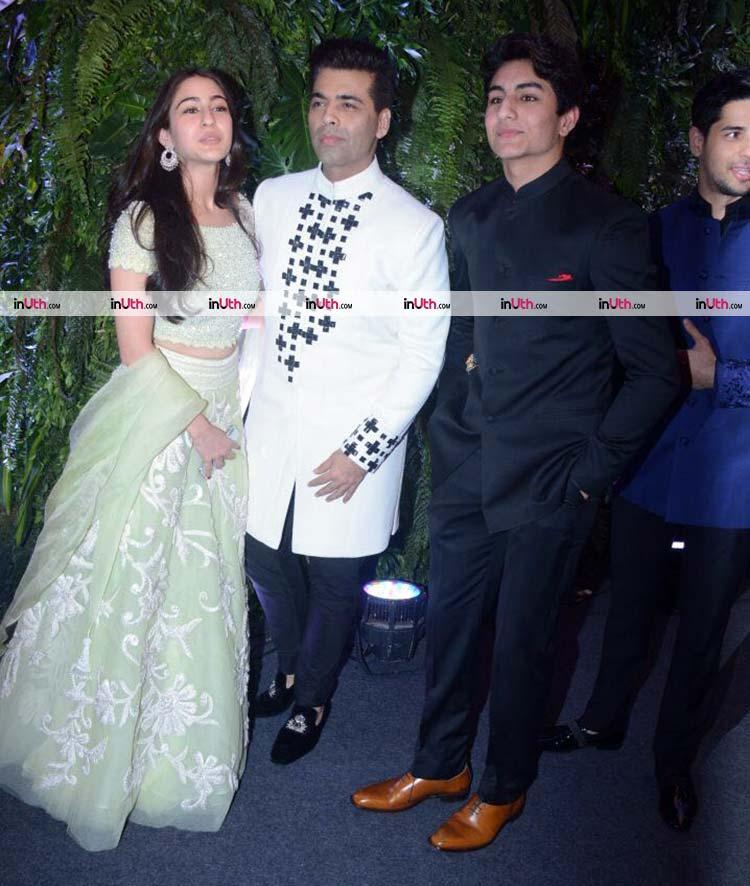 Karan Johar at Virat Kohli and Anushka Sharma's wedding reception in Mumbai