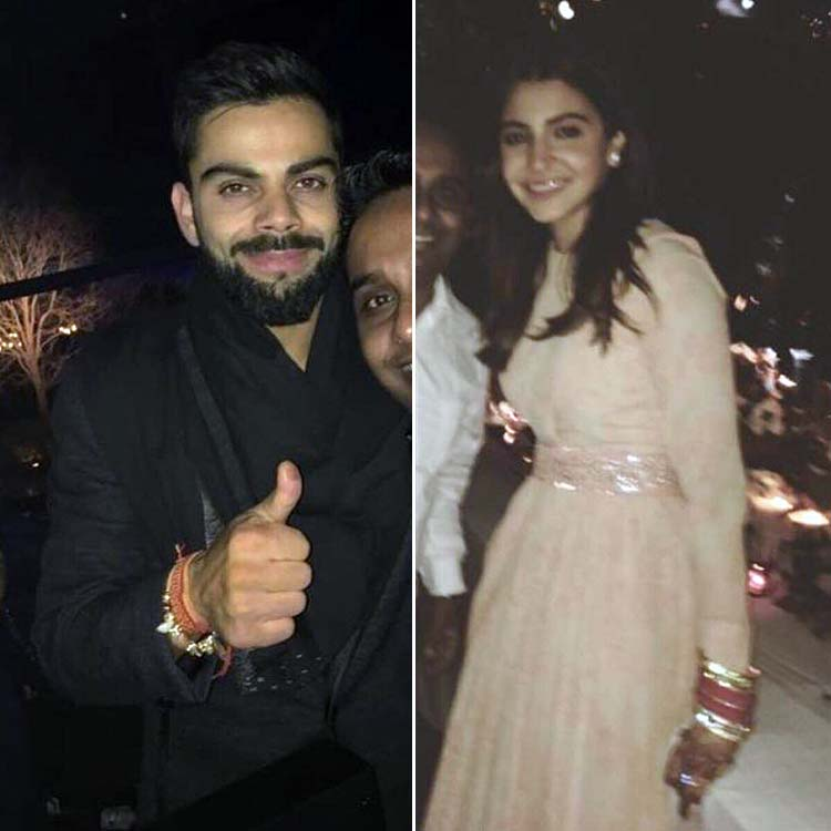 Virat Kohli and Anushka Sharma at their post-wedding party