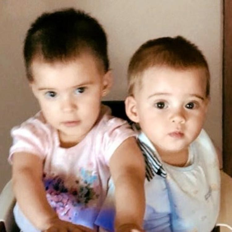 A photo of Yash and Roohi shared by their father on their first birthday