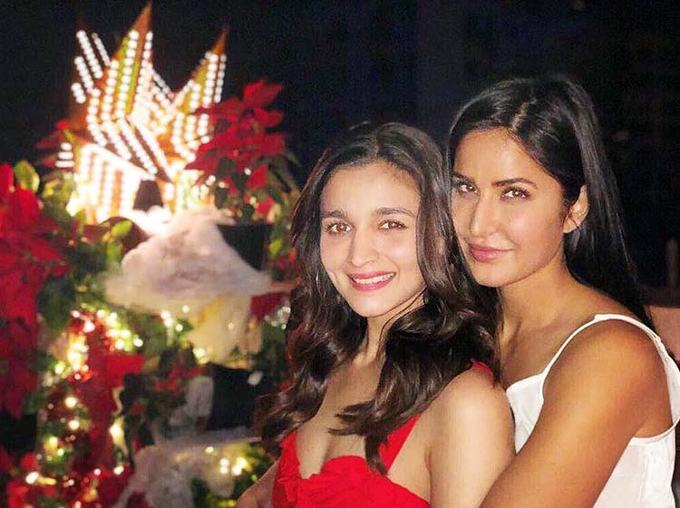 Alia Bhatt and Katrina Kaif at Karan Johar's Christmas party