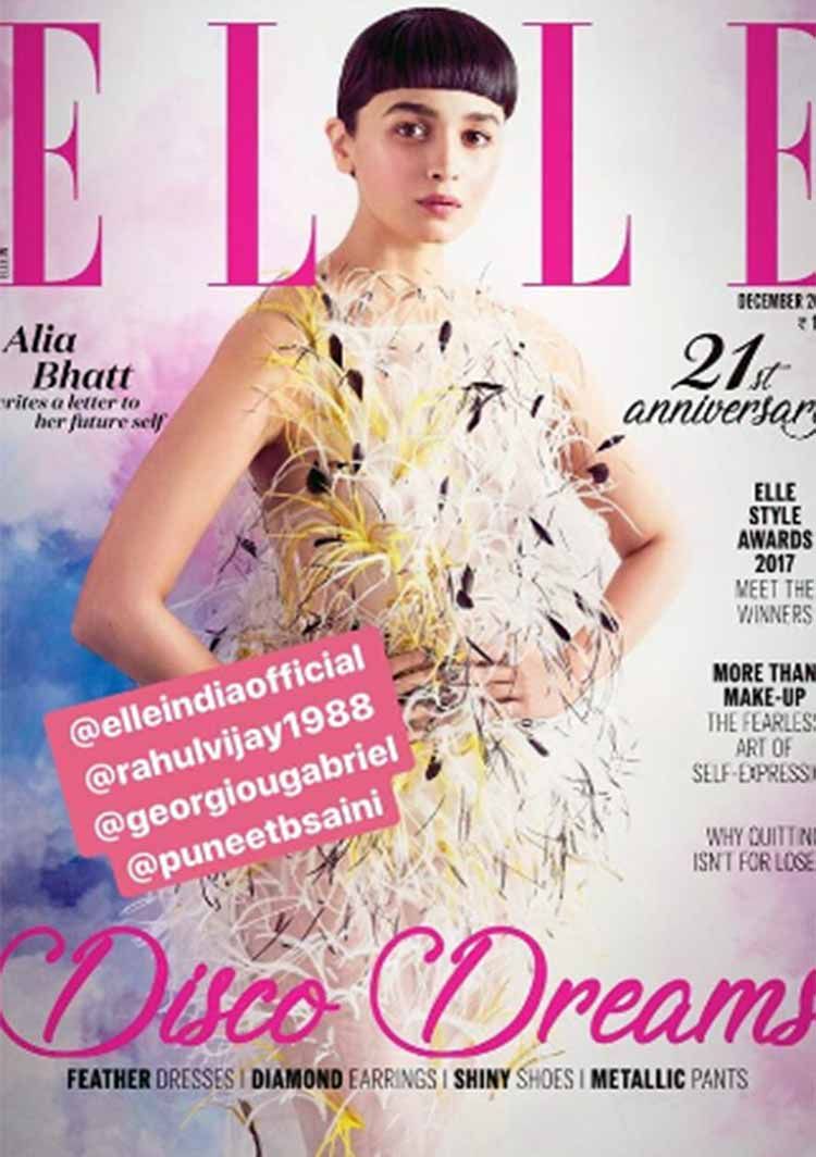 Alia Bhatt sizzling the Elle India magazine cover story