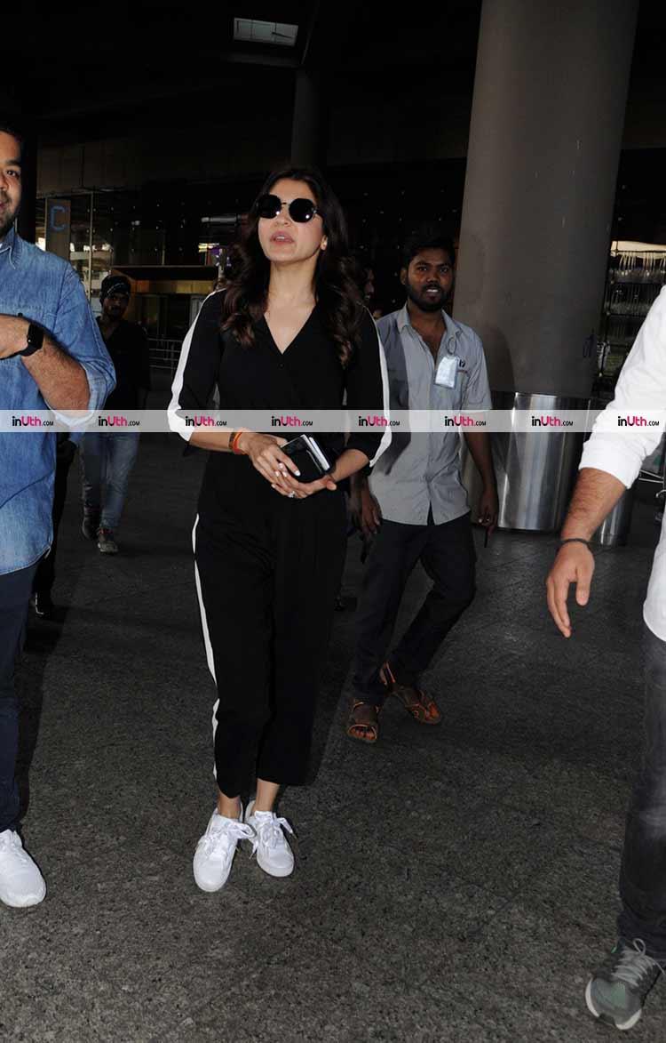 Anushka Sharma returns from South Africa