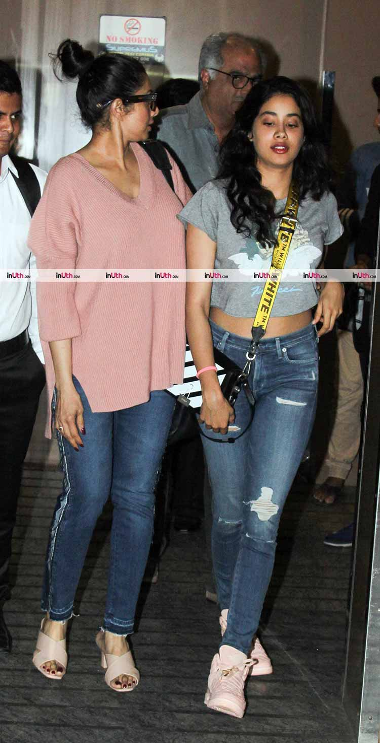 Janhvi Kapoor catch a movie with her parents