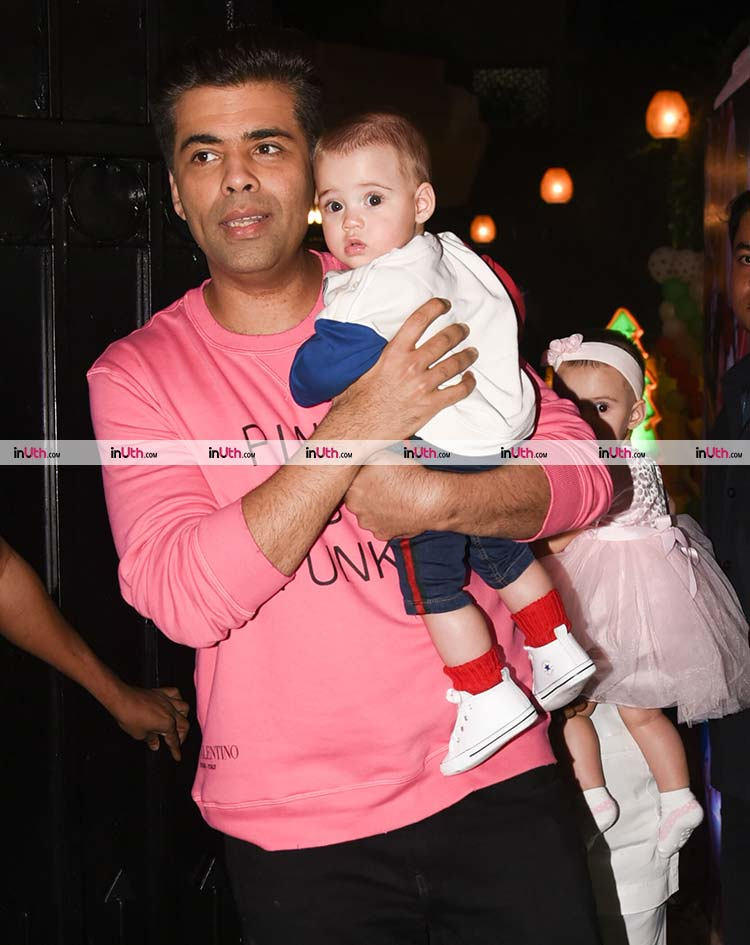Karan Johar with his son Yash