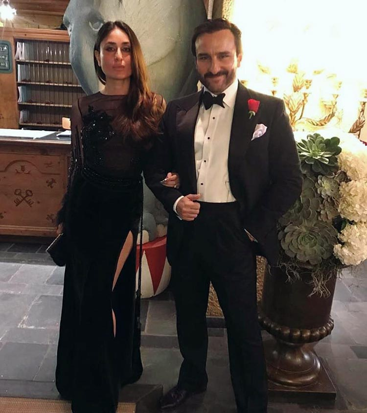Kareena Kapoor and Saif Ali Khan twinning in black