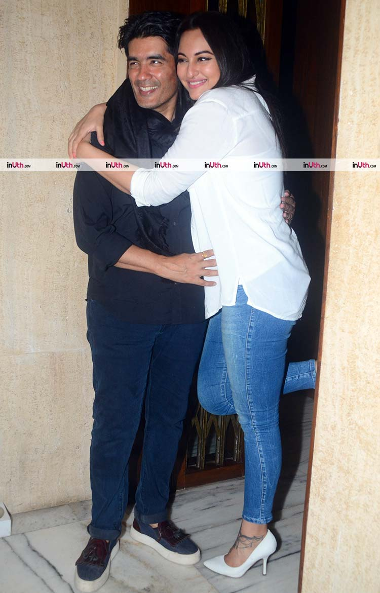 Manish Malhotra with Sonakshi Sinha at his birthday party
