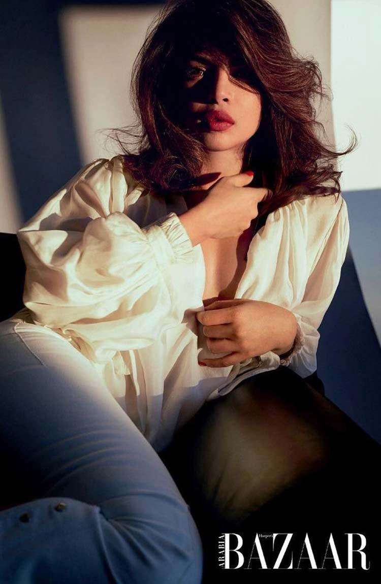 Priyanka Chopra all stunning all in her Harper's Bazaar Arabia photoshoot