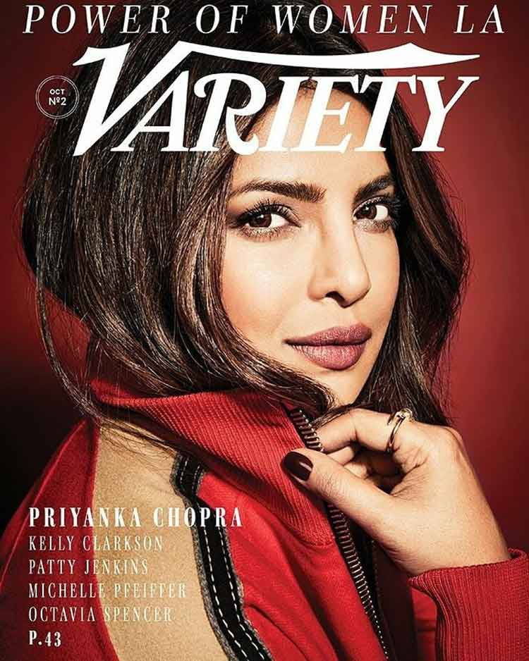 Priyanka Chopra on the October 2017 cover of Variety magazine
