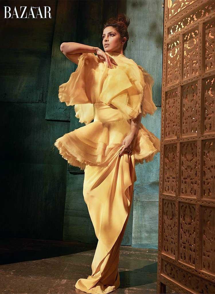 Priyanka Chopra posing for her latest photoshoot for Harper's Bazaar Vietnam