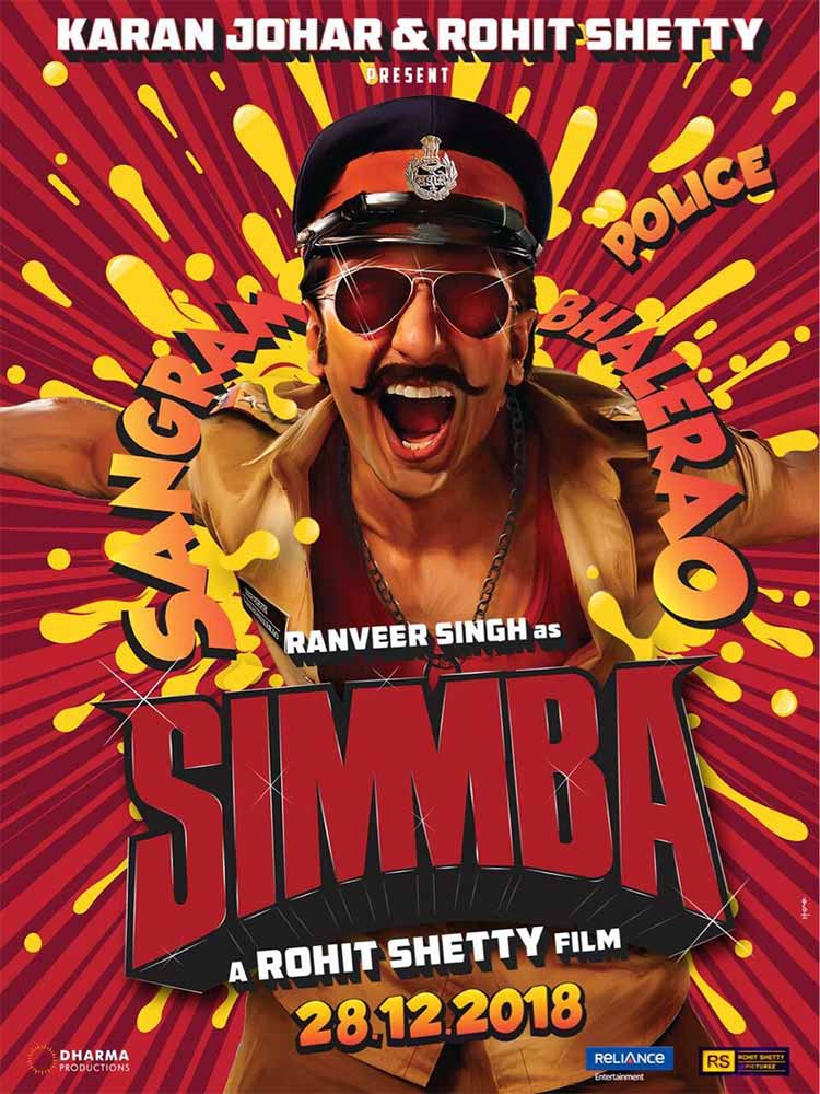 Ranveer Singh looks whacky in the first poster of Simbaa