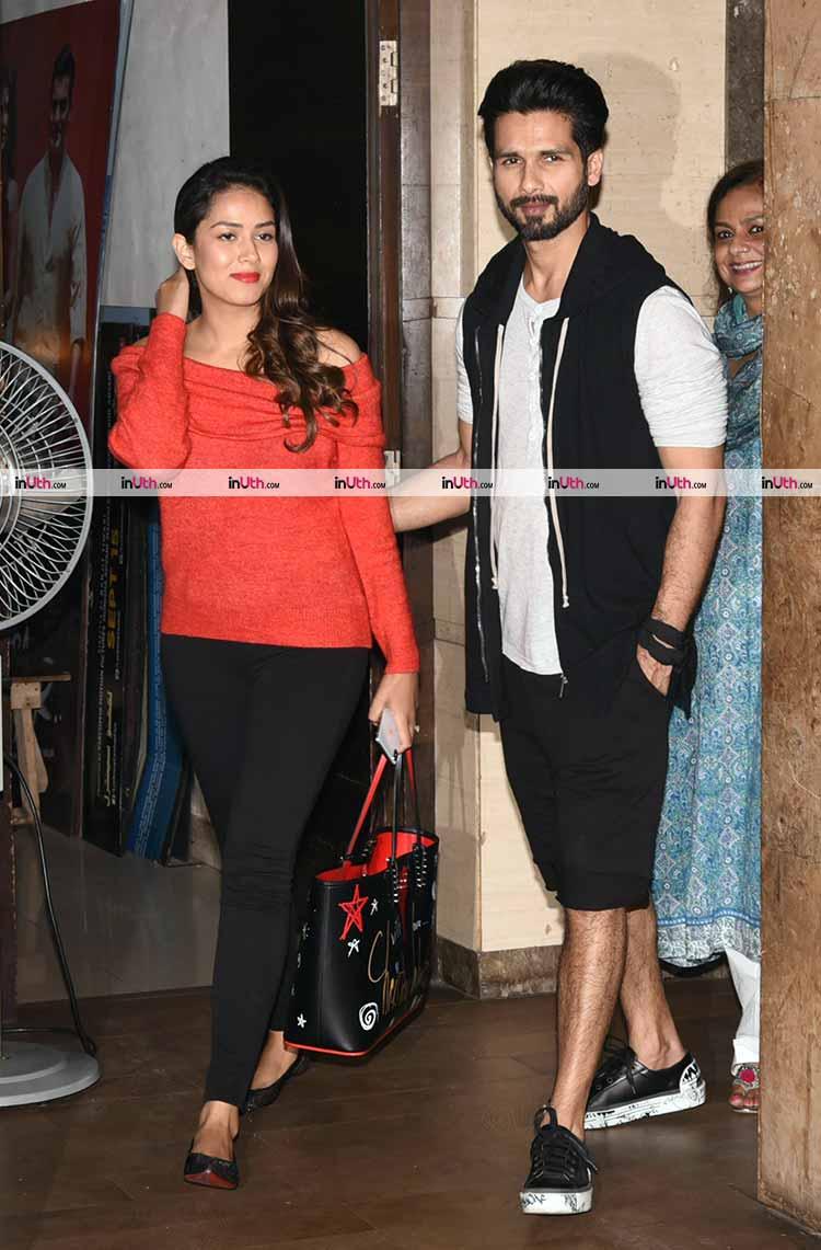 Shahid Kapoor and Mira Rajput at Tiger Zinda Hai screening