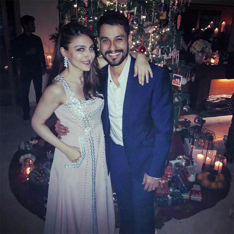 Soha Ali Khan and Kunal Kemmu at Kareena Kapoor's Christmas bash