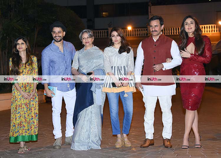 Soha Ali Khan with her family at the book launch