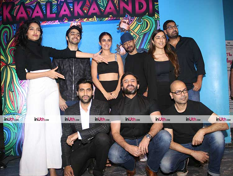 Team Kaalakaandi at the trailer launch