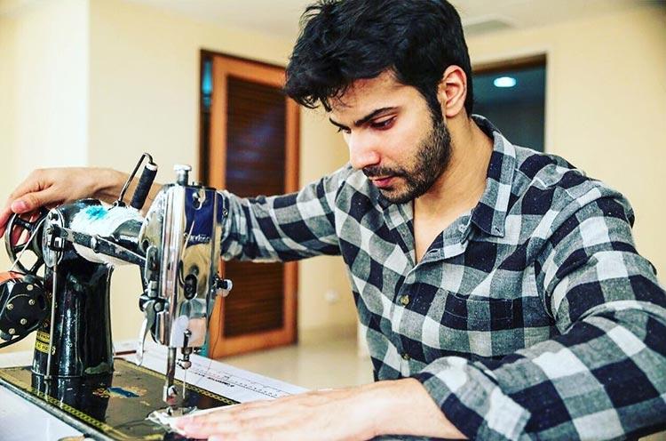 Varun Dhawan taking sewing lessons for Sui Dhaaga