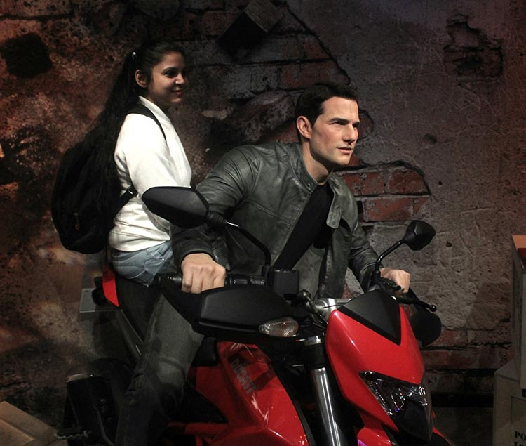 Wax figure of Tom Cruise at Madame Tussauds Delhi
